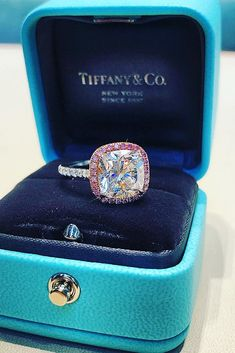 Tiffany OFF! 16 Most Loved Tiffany Engagement Rings Princess Cut Rings, Princess Cut Engagement Rings, Best Engagement Rings, Antique Engagement Rings, Rose Gold Engagement Ring, Princess Cut Diamonds, Solitaire Engagement, Pink Diamonds, Tiffany E Co
