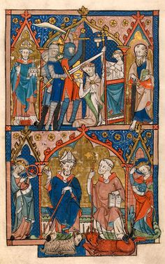 Thomas à Becket: murdered before High Altar | Psalter | England, East Anglia or London, | ca. 1300-1310 | The Morgan Library & Museum