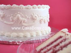 CakeBoss White Velvet Wedding Cake
