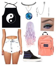 Summer hangout with friends by ashley1801 on Polyvore featuring polyvore, fashion, style, Wet Seal, Vans, JanSport and French Connection
