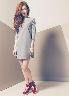 Produzione e vendita pronto moda donna collezione spring e summer 2016. #anycase #greydress #prontomoda #dress