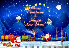 Merry Christmas & Happy New Year animated gif christmas merry christmas christmas quote christmas greeting christmas wishes