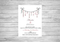Bow Polka Dot Wedding Invitation Color Printable by CreativeSpread