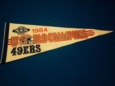 san francisco 49ers vintage 1984 super bowl 19 champions #NFL #Football pennant from $25.0