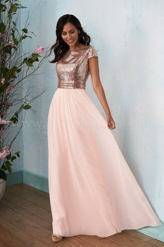 Strapless sweetheart long sequined bridesmaid dress with tulle skirt stunning a line rose gold long bridesmaid dress mightylinksfo
