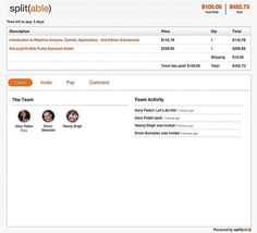 Split(able) - We combine invitations, payment and communication in one simple application, so planning is fun again, and youre never on the hook for fronting or collecting money for your friends. Splitables payment process only transacts payments when your group meets its target size or payment goals, and we send the money straight to the merchant business. Now, you can get back to the fun of getting together, and leave the rest to us. credit-where-credit-s-due personal-development
