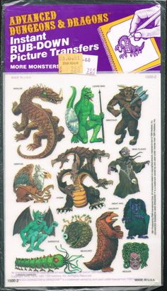 Instant DnD transfers from the 80s - http://monsterbrains.blogspot.com/2013/01/advanced-dungeons-and-dragons-picture.html#