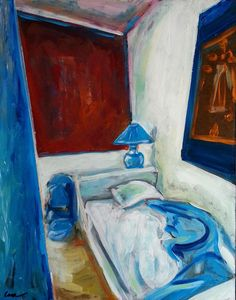 Blue Bedroom - Arles, France    Original Acrylic  By: Leah Reynolds