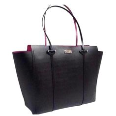 Kate Spade Annelle Arbour Hill Leather Black / Swthr Pink Tote Bag. Get one of the hottest styles of the season! The Kate Spade Annelle Arbour Hill Leather Black / Swthr Pink Tote Bag is a top 10 member favorite on Tradesy. Save on yours before they're sold out!
