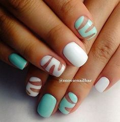 Beautiful nail art designs that are just too cute to resist. It's time to try out something new with your nail art. Creative Nail Designs, Creative Nails, Nail Art Designs, Love Nails, Pretty Nails, My Nails, Nagel Hacks, Plaid Nails, Almond Acrylic Nails