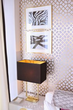 Home-Styling: Querido Mudei a Casa Tv Show #2314 - Gold Trellis Room - Before and After