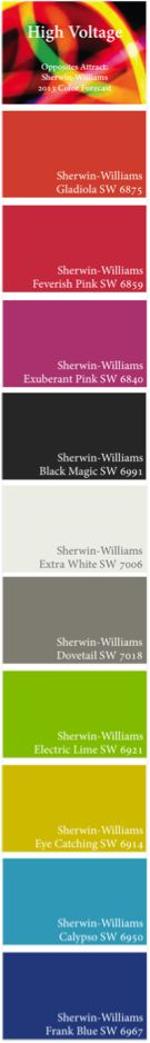 Opposites Attract: Sherwin-Williams 2013 Color Forecast -- High Voltage Palette