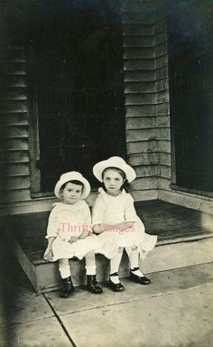 Antique Vintage Digital Image of Sisters or by ThriftyImages, $1.00