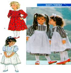 Little Girls Party Dress and Pinafore by FindCraftyPatterns, $7.00