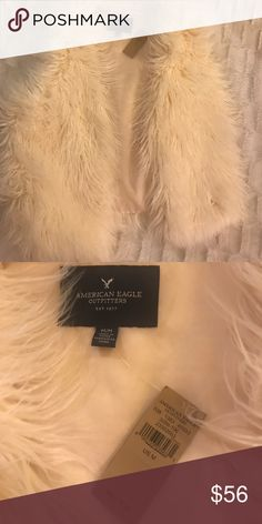 American Eagle Outfitters Vest Medium BNWT Bnwt American eagle vest retail price 79.95 size medium.           Soft Faux fur, Easy fit, Open front, Sleeveless vest. American Eagle Outfitters Jackets & Coats Vests