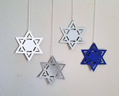 Hey, I found this really awesome Etsy listing at jewishcelebrations Hanukkah Bush, Hanukkah Diy, Hanukkah Decorations, Hannukah, Star Decorations, Diy Arts And Crafts, Paper Crafts, Gift Of Faith, Glitter Cards