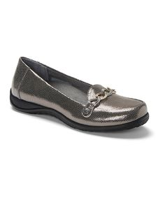 Look at this Pewter Alda Leather Loafer - Women on #zulily today!