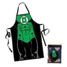 Green Lantern Character Costume Apron - http://coolgadgetsmarket.com/green-lantern-character-costume-apron/