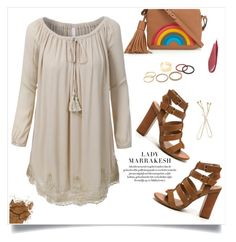 """""""Tunic Dress"""" by christinacastro830 ❤ liked on Polyvore featuring Anya Hindmarch and LE3NO"""