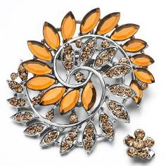 Pugster Elegant November Birthstone Topaz Crystal Flower Set Brooches And Pins Pugster. $11.99. Exquisitely detailed designer style,Swarovski element crystal. One free elegant cushioned Gift box available with every order from Pugster.. Money-back Satisfaction Guarantee. Can be pinned on your gown or fastened in your hair with bobby pins.. Occasion: casual wear,anniversary, bridal, cocktail party, wedding. Save 20%!