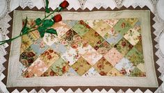 Faded Roses Table Runner
