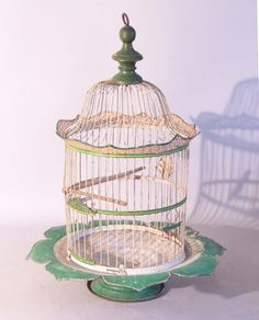 Victorian painted wire birdcage c1880