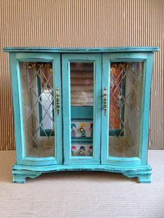 Vintage Wooden Jewellery Box - Jewelry Box- Shabby Chic Jewellery…