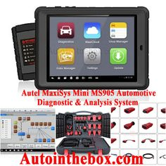 $2,199.99Designed with the DNA of Autel's diagnostics family, the MaxiSys Mini MS905 is built to offer many of the prestigious qualities of the MaxiDAS DS708 with extreme ease of use and powerful diagnostic performance. http://www.autointhebox.com/autel-maxisys-mini-ms905-automotive-diagnostic-analysis-system_p2841.html #OBD2
