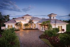 Best House Plans, Country House Plans, House Floor Plans, Mediterranean Homes Exterior, Mediterranean House Plans, Tuscan Homes, Mediterranean Architecture, Mediterranean Decor, Exterior Homes