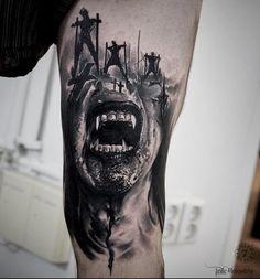 - My most beautiful tattoo list Mädchen Tattoo, Forarm Tattoos, Dark Tattoo, Leg Tattoos, Black Tattoos, Body Art Tattoos, Zombie Tattoos, Evil Tattoos, Creepy Tattoos