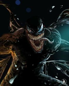 """You are watching the movie Venom on When Eddie Brock acquires the powers of a symbiote, he will have to release his alter-ego """"Venom"""" to save his life. Marvel Comics, Venom Comics, Marvel Venom, Marvel Art, Marvel Heroes, Marvel Avengers, Marvel Villains, Harley Queen, Venom 2018"""