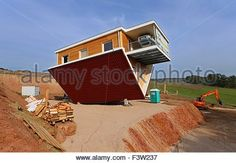 Bettingen, Germany. 12th Oct, 2015. Upside down Toppels Haus, in which the entire furnishings are also secured upside down, is part of a theme park. PHOTO: KARL-JOSEF HILDENBRAND/DPA/Alamy Live News