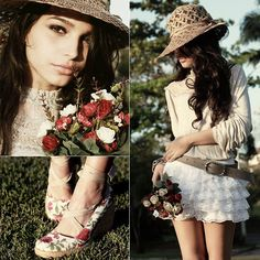 lace. image: http://lookbook.nu/look/2446477-Stolen-Roses More lace fashion ideas: http://famecherry.com/fashionista-now/fashionista-now-lacy-in-fashion-the-delicate-appeal-of-lace/