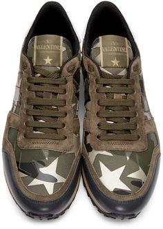 quality design 3c3ef 5fa44 Valentino - Green Stars Camo Sneakers Valentino Shoes Sneakers, Men s  Sneakers, Sneakers Fashion,