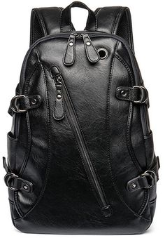 01a5ac9a5f64 Amazing offer on Sanch Ancha PU Leather Backpack Men inch Laptop Soft  Travel Business Laptop Shoulder Bags Headset