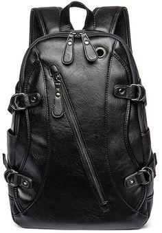 4FSGLOBAL Men Composite Leather Backpack Laptop Notebook Bag Men Travel  School Bag Bagpack Leather Laptop Backpack 504e6567c4