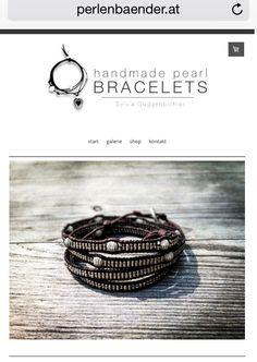 www.perlenbaender.at perlen armbänder handgemachte perlen armbänder aus leder swarovski handmade pearl bracelets leather Pearl Bracelets, Band, Swarovski, Stud Earrings, Pearls, Accessories, Jewelry, Handmade Beads, Leather