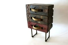 Industrial End Table Repurposed WWI Antique Ammo by weareMFEO. $279.00, via Etsy.