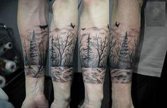dark forest tattoo sleeve - Google Search