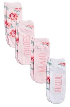 SOCKART Bridal Party 4-Pack Ankle Socks