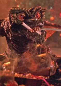 Gremlins... isnt he just so cute??? LOL  Looks like me in my early years after a few too many at the bar!
