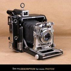 Vintage Graflex Speed Graphic Camera 2-1/4 x 3-1/4 101mm Ektar