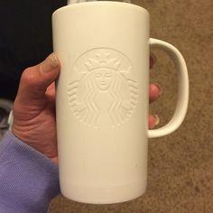 White Starbucks coffee mug All white mug Starbucks Other
