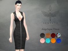 A super sexy zip up dress with biker collar detail. Its very low cut, but I tested it with all the skin tones I have in game and it covers everything that…