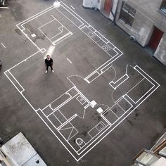 Drawing Architectural full size house drawing - Architecture Firm Uses Tape for Full-Scale Floor Plans Garden Architecture, Architecture Drawings, Architecture Plan, Interior Architecture, Interior Rendering, Beautiful Architecture, Architecture Blueprints, Gothic Architecture, Interior Design