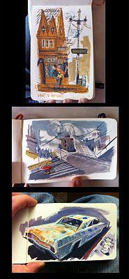 Sketchbook paintings by Matthew Cruickshank