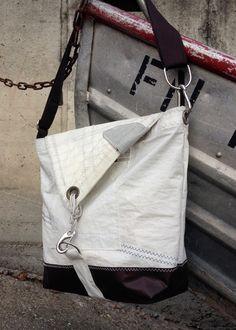 """Umhängetaschen - Segeltuchtasche/Tasche Segel/Männertasche """"shabby"""" - ein Designerstück von RoughElement bei DaWanda"""