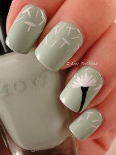 Twitter / IFeelPolished: #Dandelion #nails using ...