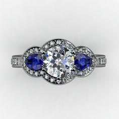 Diamond and Sapphire Engagement Ring www.marionrehwinkeljewellery.com