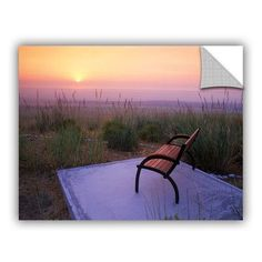 ArtWall Peach Sunset by Dennis Frates Wall Mural Size: